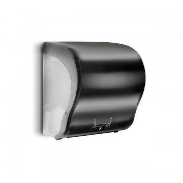 Dispensador Papel Corte Automático. Medidas 33x23x33CM. Color Negro.