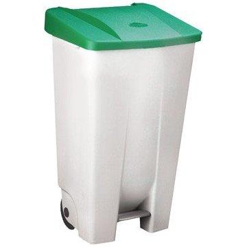 Contenedor Basura Selectivo 120L. Tapa Color Verde.
