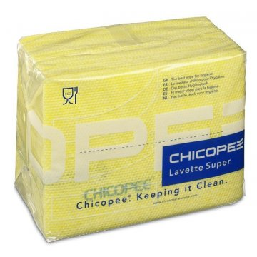 Pack 150 Paños TNT Chicopee LAVETTE SUPER. 51x36CM. Color Amarillo.