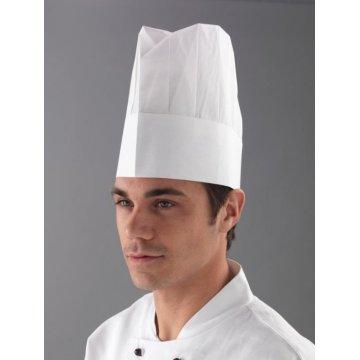Pack 250 Gorros Cocinero Chef Desechables