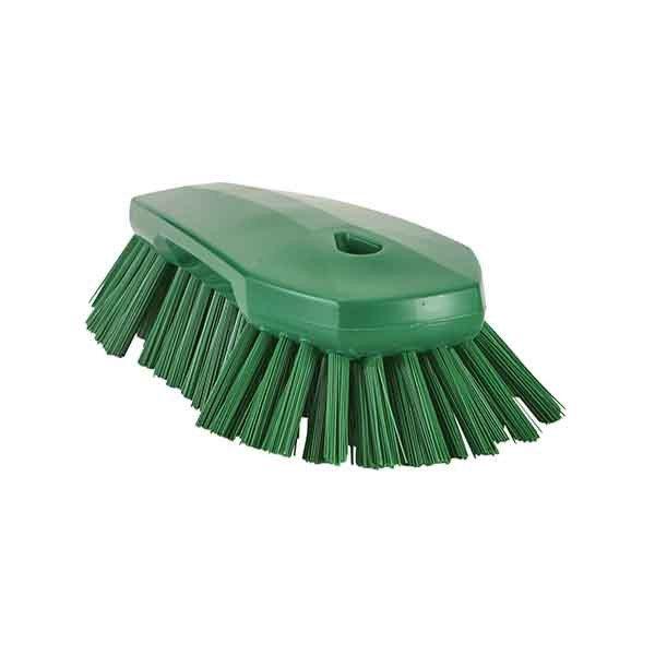 Cepillo de mano VIKAN extragrande cerdas muy duras - verde