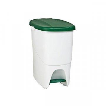 Papelera Plástico 25L PEDALBIN Verde