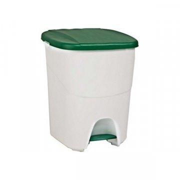 Papelera Plástico 40L PEDALBIN Verde