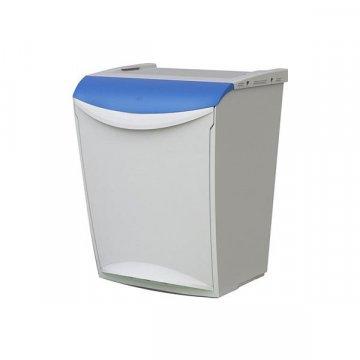 Papelera Plástico 25L ECOSYSTEM Azul