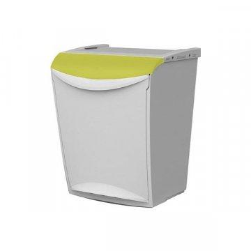 Papelera Plástico 25L ECOSYSTEM Amarillo