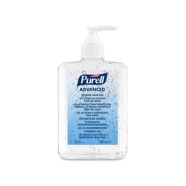 Pack 12 botellas 500 ml gel hidroalcohólico Purell Advanced