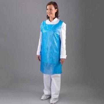 Pack 1000 Delantales Plástico Desechables Azul Talla L