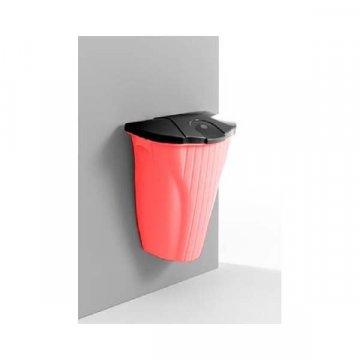 Papelera Colgante WALL-UP 50L Rojo-Negro