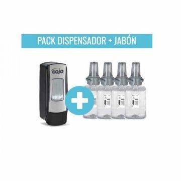 Pack Dispensador Jabón GOJO ADX 700ML + 4 Cargas GOJO Mild Foam