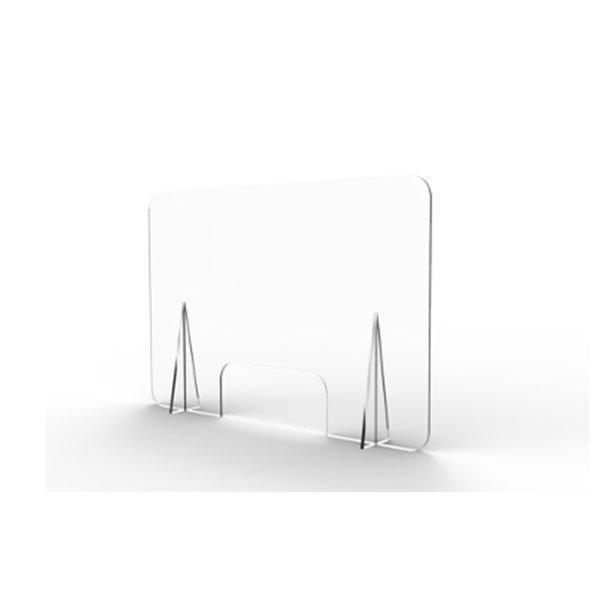 Mampara mostrador CON ventanilla 74x60cm