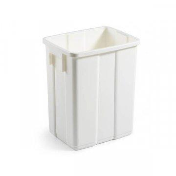 Papelera Plástico 50L sin Tapa MAX Blanco