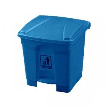 Papelera Plástico con Pedal 30L Azul