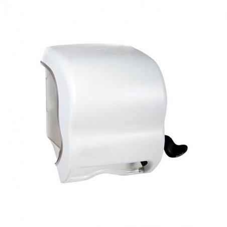 Dispensador Papel Palanca Blanco