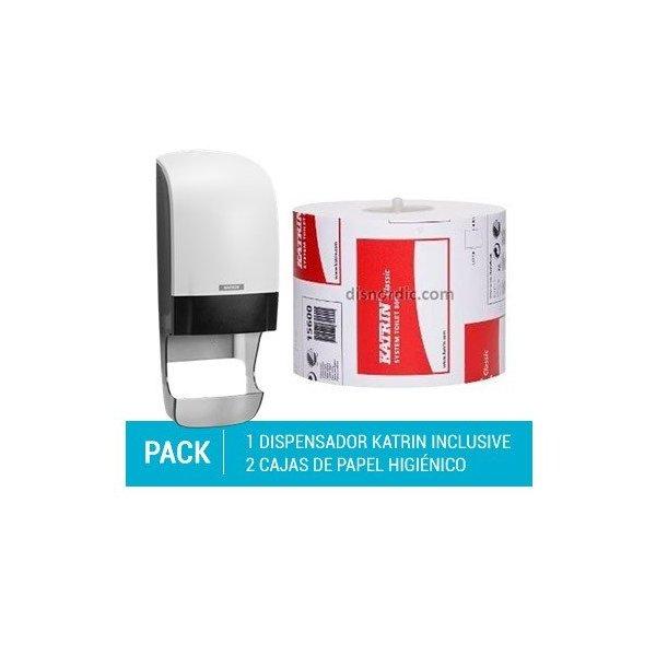 Pack Dispensador Katrin Hand Towel M + 3 cajas de Toallas Secamanos