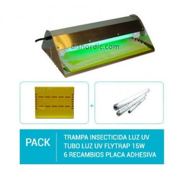 Pack Sistema insecticida Luz UV Flytrap